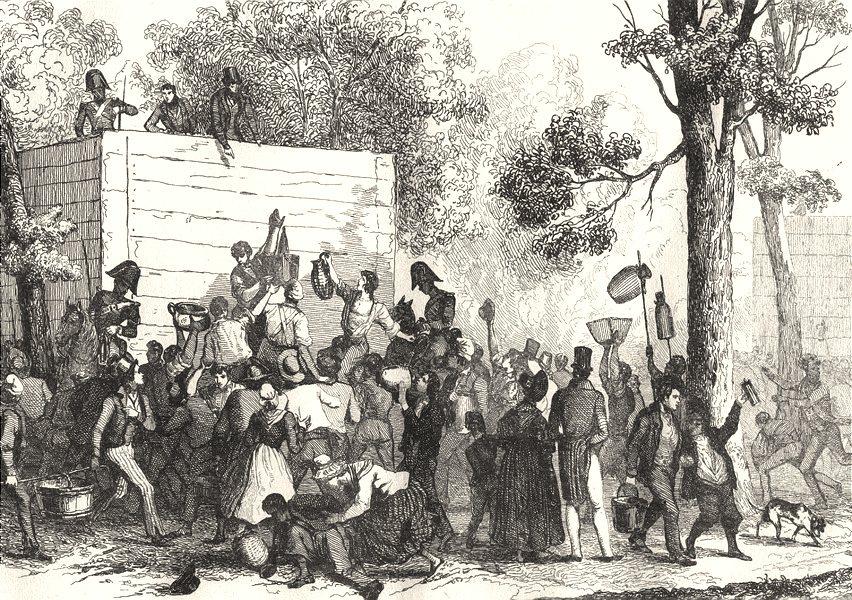 Associate Product FRANCE. Une fête Publique 1835 old antique vintage print picture