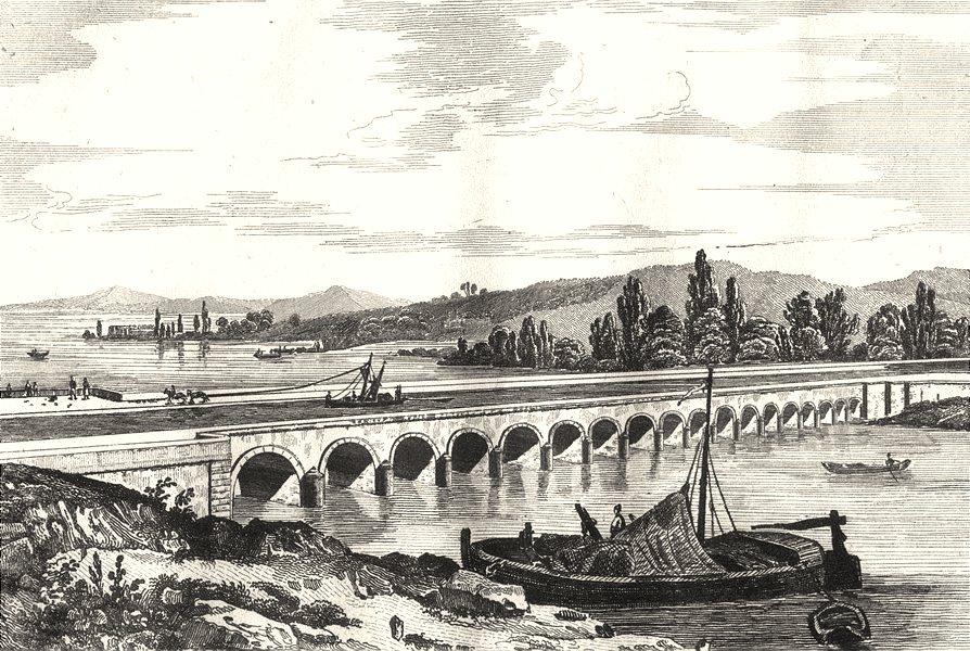 Associate Product LOIRE. Canal latéral à la Loire, pont aqueduc sur l'Allier près de Nevers 1835