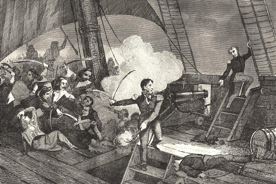 Associate Product FRANCE. Héroïsme de Bisson 1835 old antique vintage print picture