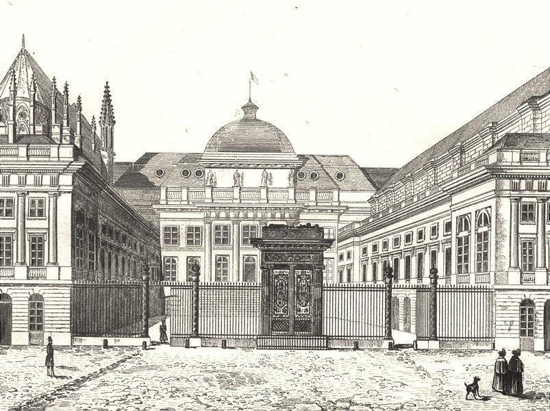 Associate Product FRANCE. Palais de Justice 1835 old antique vintage print picture