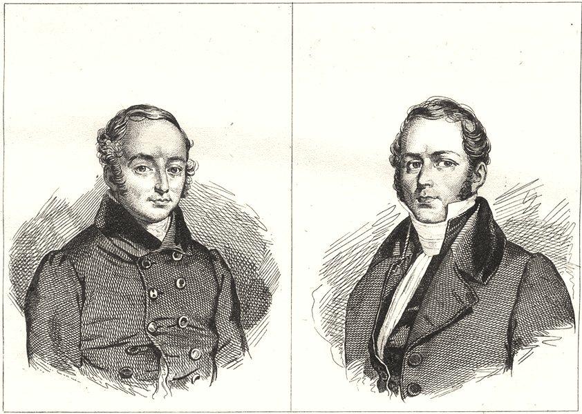 Associate Product FRANCE. Berryer; Odilon- Barrot 1835 old antique vintage print picture