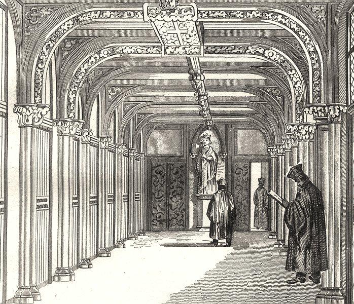 Associate Product FRANCE. Salle des pas Perdus- Cour de Cassation 1835 old antique print picture