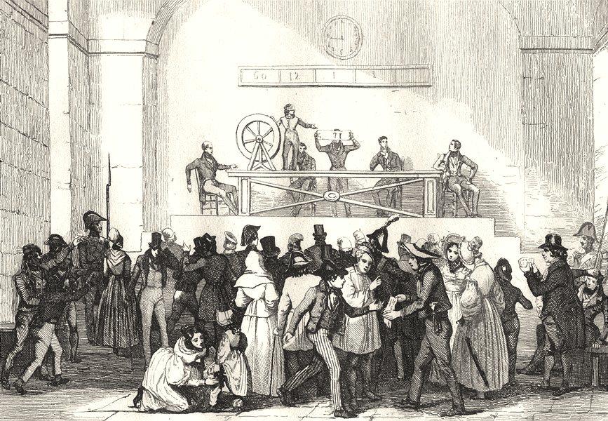 Associate Product FRANCE. Tirage de la Loterie 1835 old antique vintage print picture