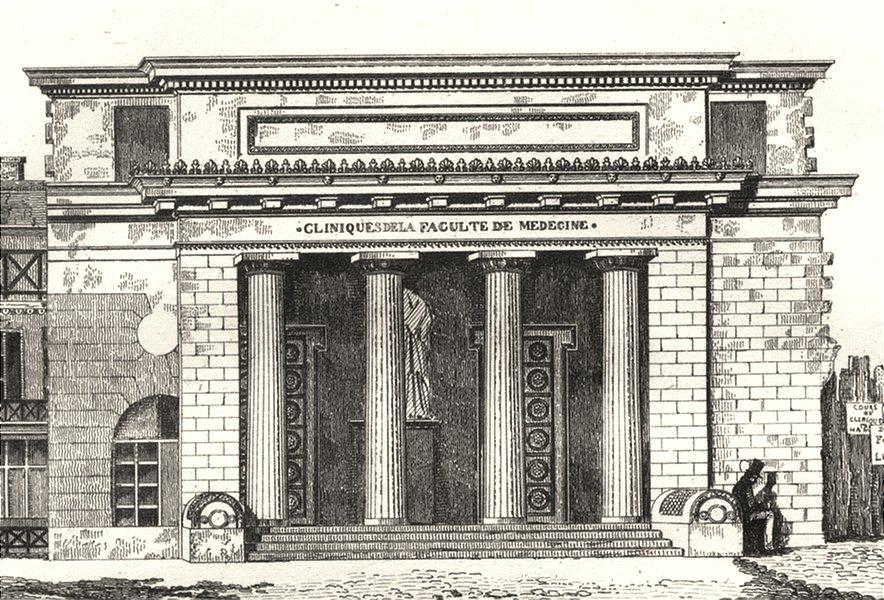 Associate Product FRANCE. Cliniques de la Faculté de Médecine 1835 old antique print picture