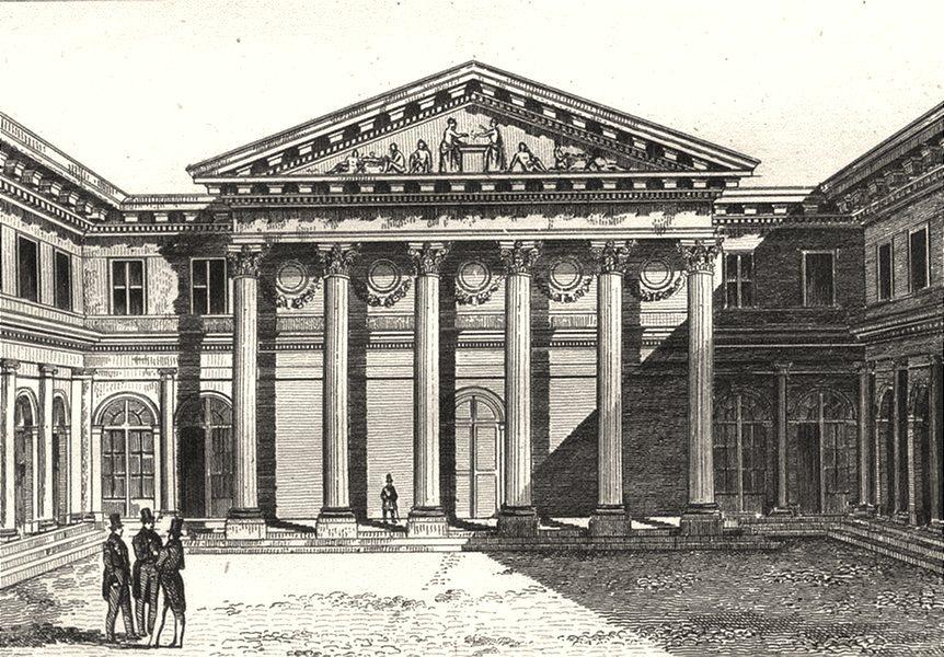 FRANCE. Portail de l'amphithéâtre de l'Ecole de Médecine 1835 old print