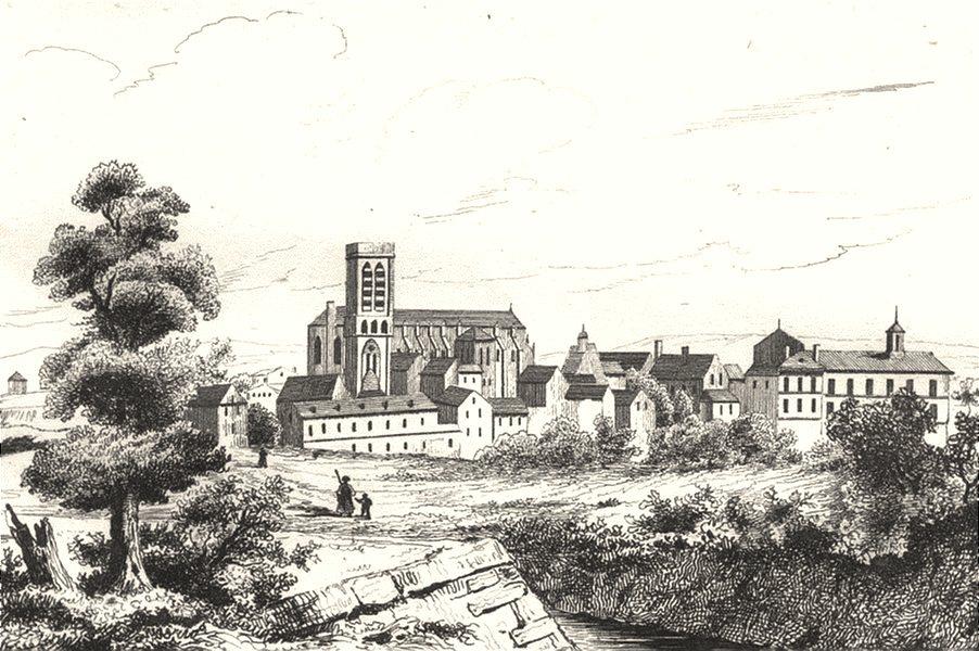 Associate Product AISNE. Soissons 1835 old antique vintage print picture