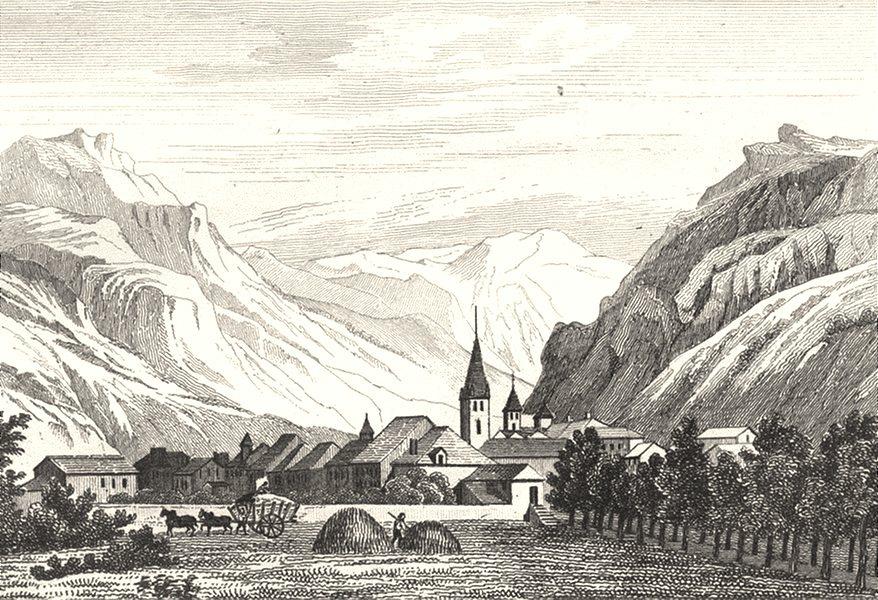 Associate Product ALPES-DE-HAUTE-PROVENCE. Basses-Alpes. Barcelonnette 1835 old antique print