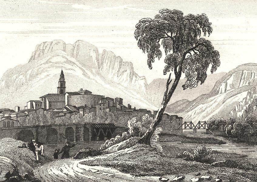 Associate Product ALPES-DE-HAUTE-PROVENCE. Basses-Alpes. Digne 1835 old antique print picture