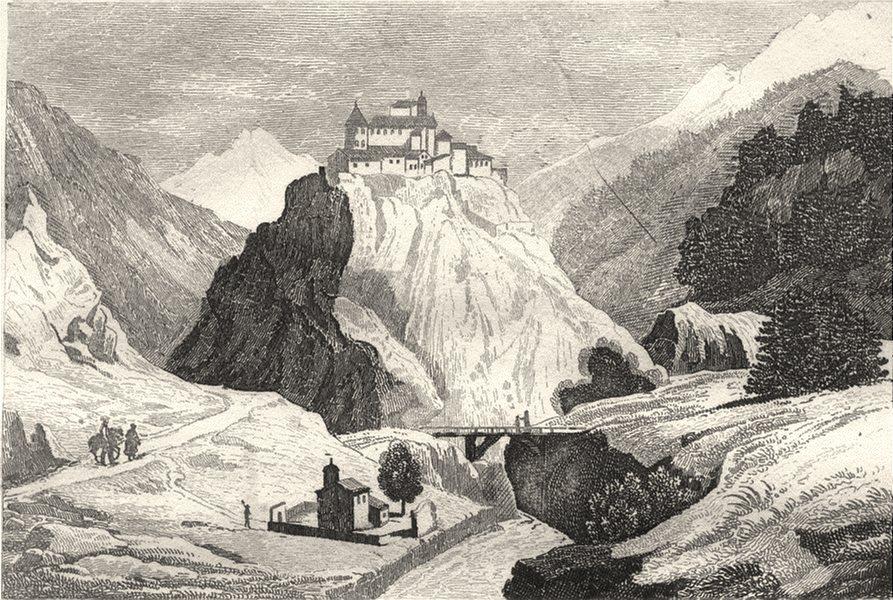 Associate Product HAUTES-ALPES. Fort de Queyras 1835 old antique vintage print picture