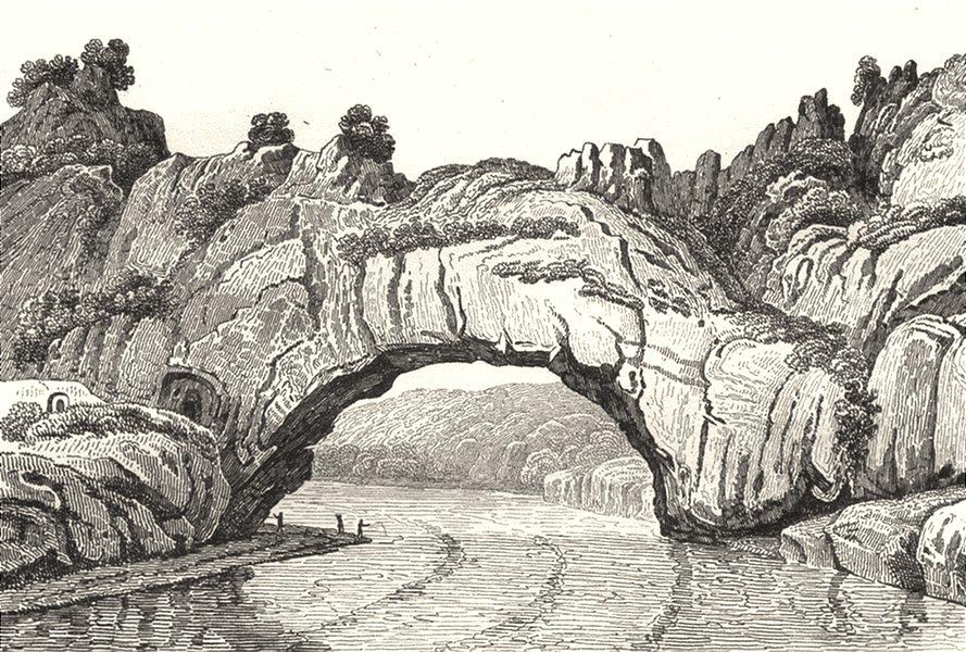 Associate Product ARDÈCHE. Pont d'Arc 1835 old antique vintage print picture