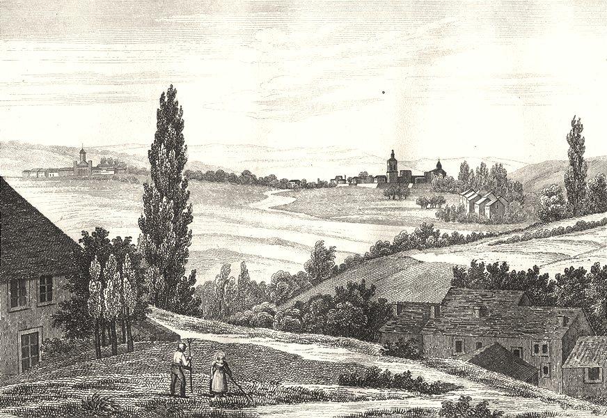 Associate Product ARDENNES. Meziéres 1835 old antique vintage print picture
