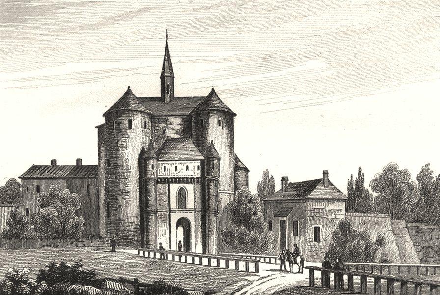 Associate Product AUBE. Port St. Jacques à Troyes 1835 old antique vintage print picture