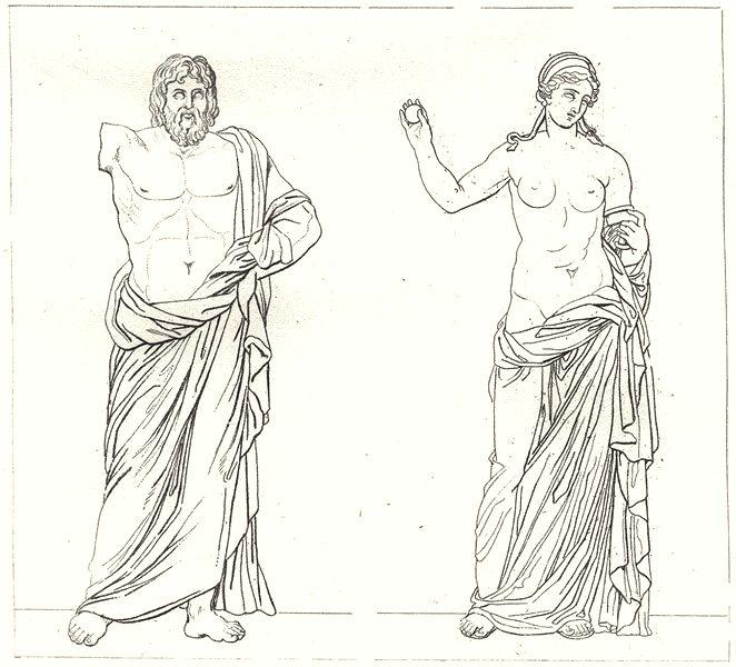 Associate Product BOUCHES-DU-RHÔNE. Marseille. Jupiter d'Aix; Vénus d'Arles 1835 old print