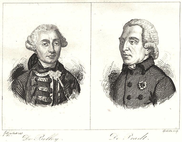 Associate Product CANTAL. De Belloy; De Pradt 1835 old antique vintage print picture