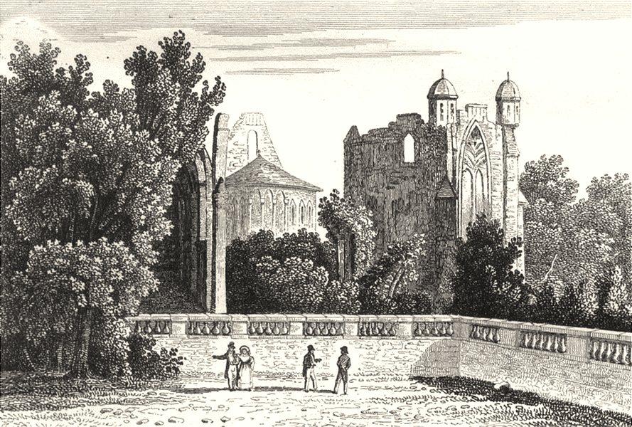 Associate Product CHARENTE. Abbaye de la Couronne 1835 old antique vintage print picture