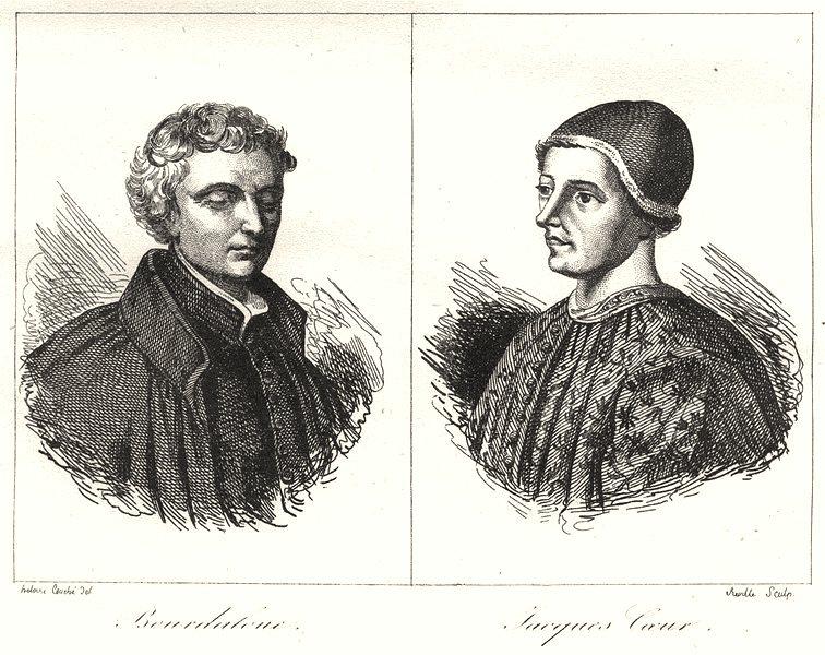 Associate Product CHER. Bourdaloue; Jacques-Coeur 1835 old antique vintage print picture