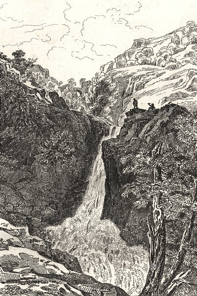 Associate Product CORRÈZE. Cascade de Gimel (1)  1835 old antique vintage print picture
