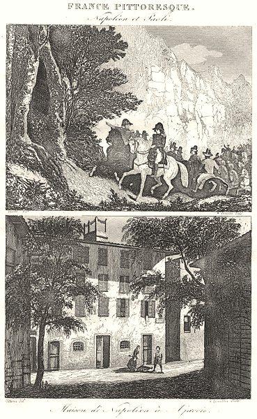 Associate Product CORSE (CORSICA) -DU-SUD. Napoléon Paoli; Maison Napoléon à Ajaccio 1835 print