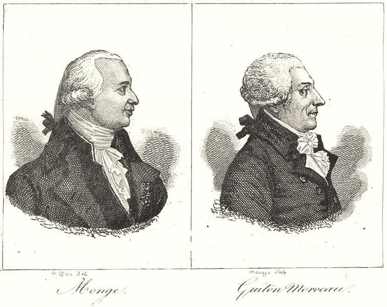 Associate Product CÔTE-D'OR. Monge; Guiton Morveau 1835 old antique vintage print picture