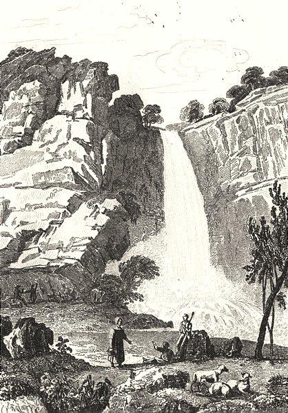Associate Product CÔTE-D'OR. Cascade de Menevault 1835 old antique vintage print picture