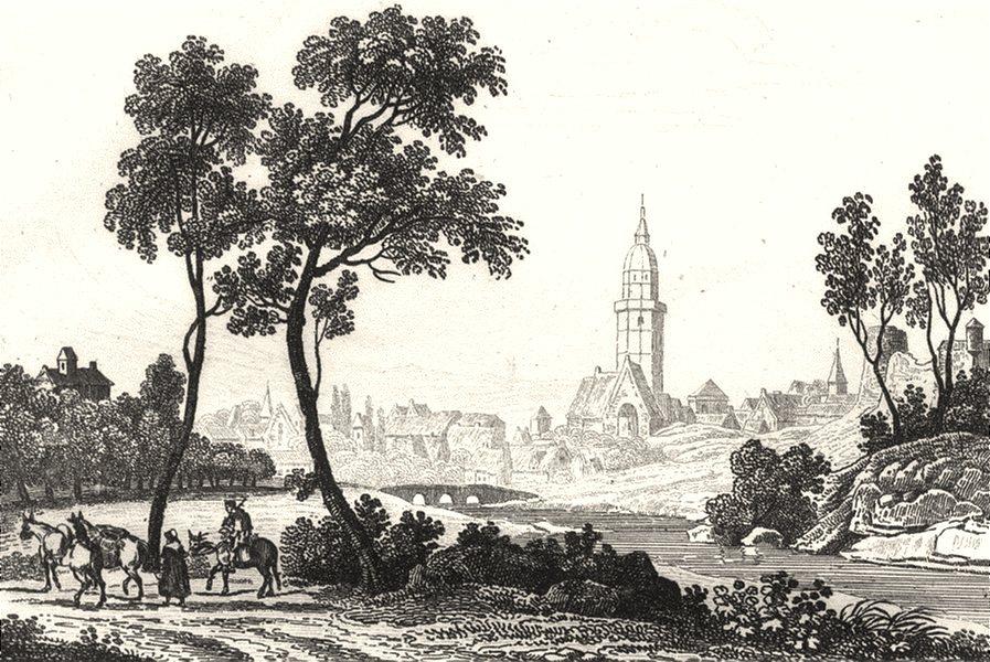 Associate Product CÔTES-D'ARMOR. Cotes-Du-Nord. Lamballe 1835 old antique vintage print picture
