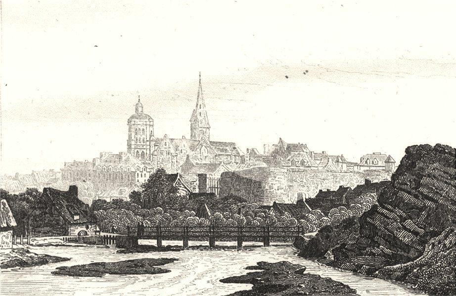 CÔTES-D'ARMOR. Cotes-Du-Nord. Guingamp 1835 old antique vintage print picture