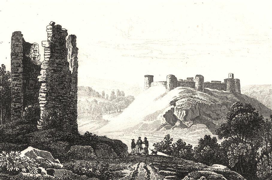 Associate Product CÔTES-D'ARMOR. Cotes-du-Nord. Chateau léon á Dinan 1835 old antique print