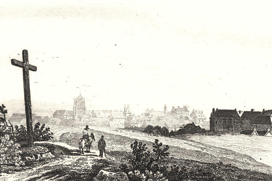Associate Product CÔTES-D'ARMOR. Cotes-Du-Nord. Saint-Brieuc 1835 old antique print picture