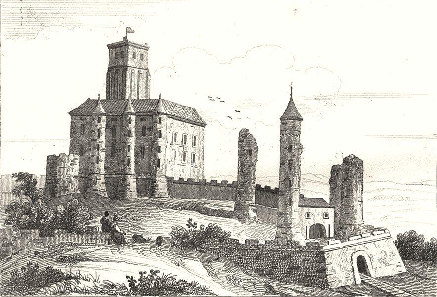 Associate Product CREUSE. Chateau d'Aubusson démoli en 1635 1835 old antique print picture