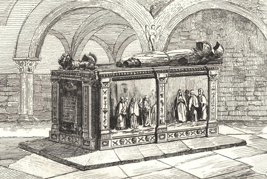 Associate Product DORDOGNE. Monument des Ducs de Biron 1835 old antique vintage print picture