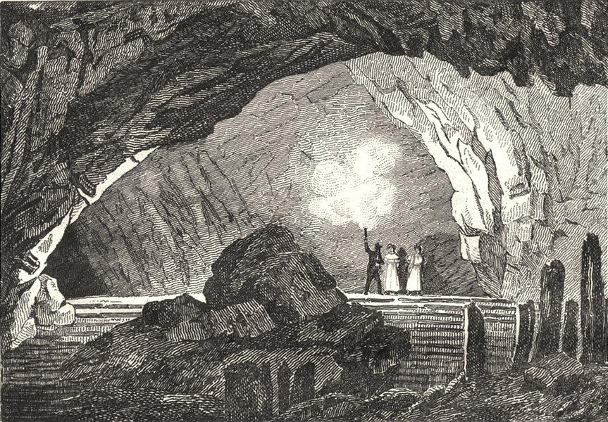 Associate Product DOUBS. Grotte d'Osselles 1835 old antique vintage print picture