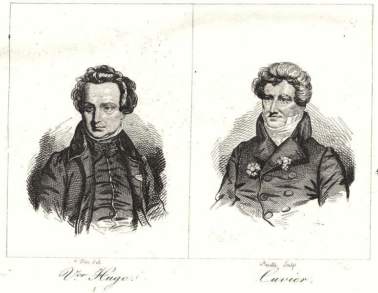 Associate Product DOUBS. Vor Hugo; Cuvier 1835 old antique vintage print picture