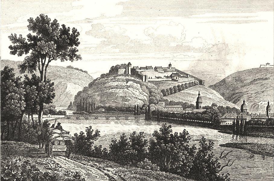 DOUBS. Besançon 1835 old antique vintage print picture