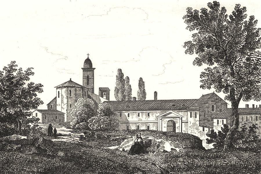 Associate Product DRÔME. Drôme. Chartreuse de Romans 1835 old antique vintage print picture