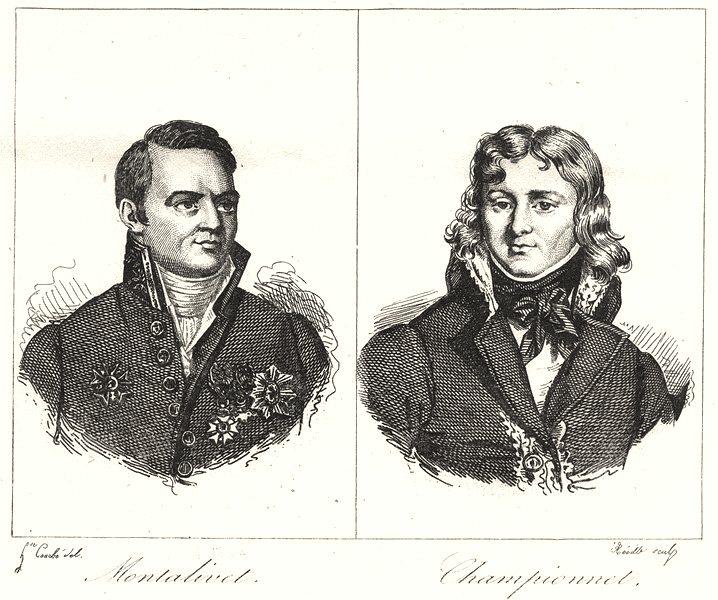 Associate Product DRÔME. Drôme. Montalivet; Championnet 1835 old antique vintage print picture
