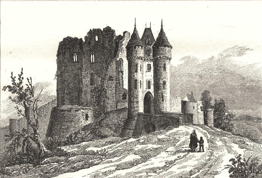 Associate Product EURE-ET-LOIR. Chateau de Nogent-Le-Rotrou 1835 old antique print picture