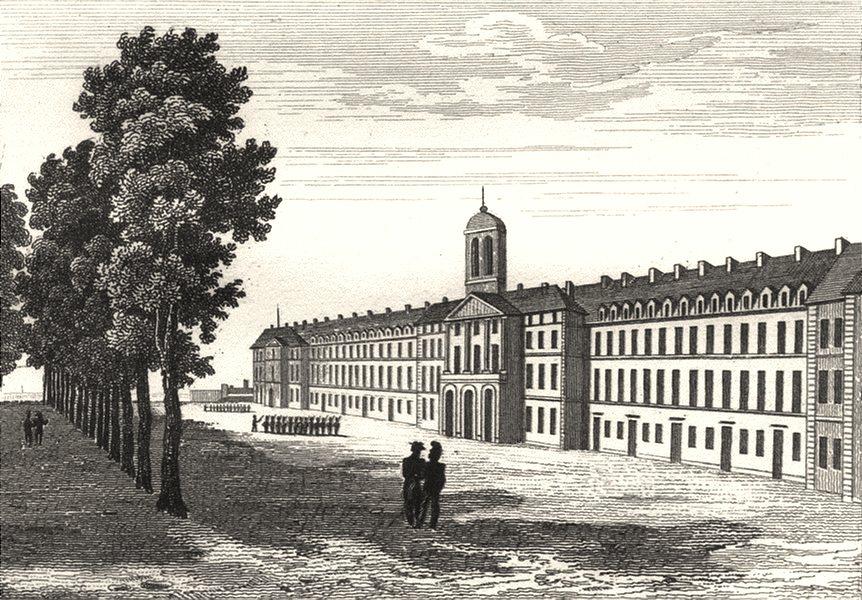 Associate Product FINISTÈRE. Quartier d'Artillerie de marine Brest 1835 old antique print