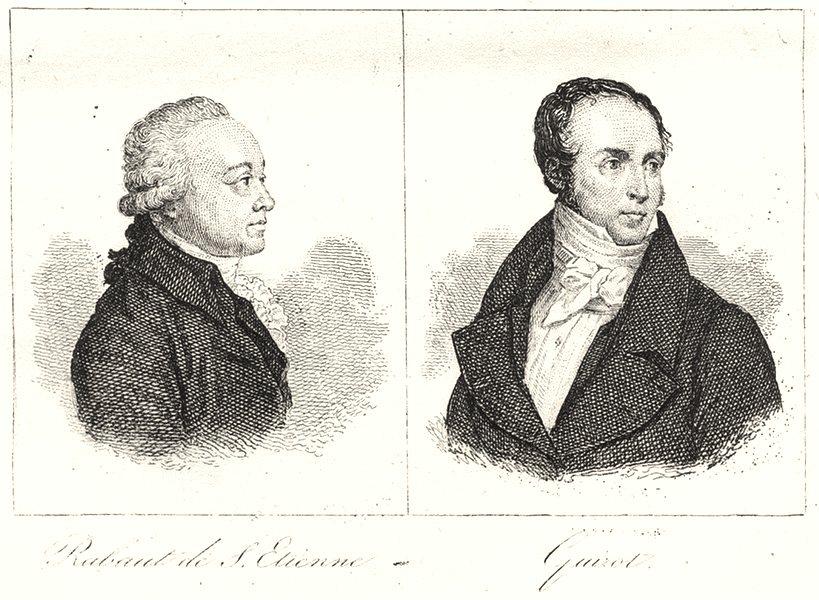 Associate Product GARD. Rabaut de S. Etienne; Guizot 1835 old antique vintage print picture