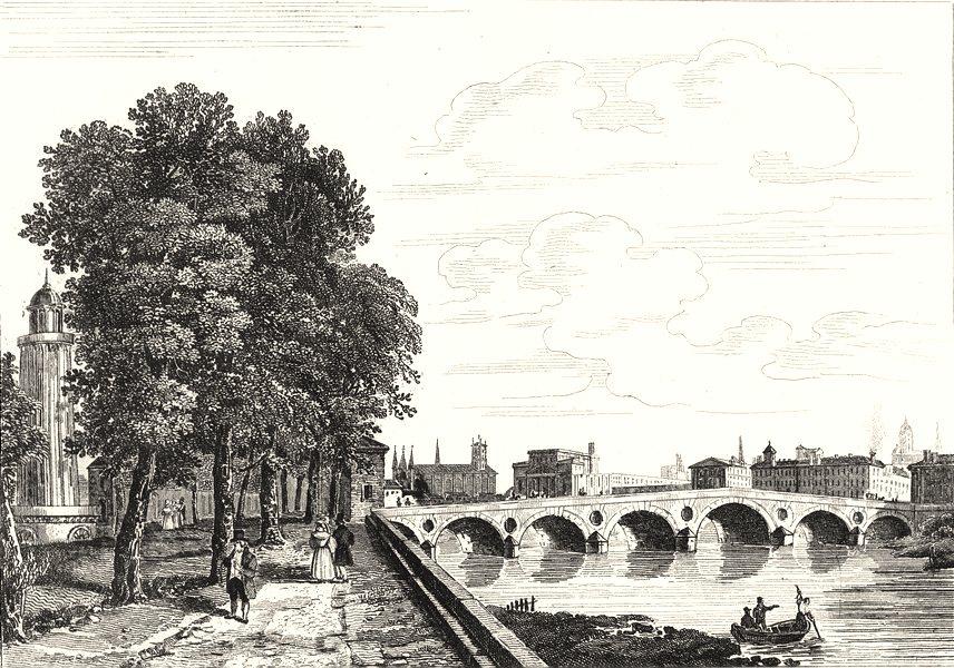 Associate Product HAUTE-GARONNE. Toulouse 1835 old antique vintage print picture