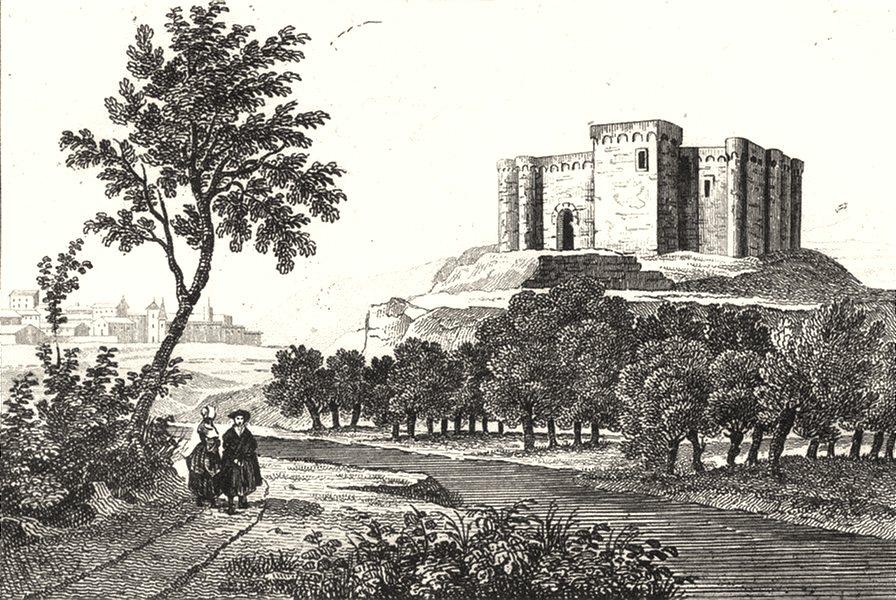 Associate Product GERS. Ancien Chateau de Mauvesin 1835 old antique vintage print picture