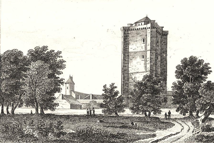 Associate Product GERS. Tour de Bassoues 1835 old antique vintage print picture