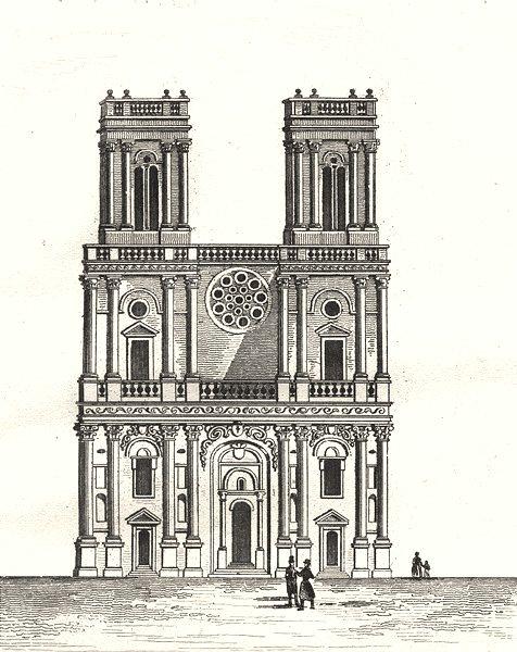 Associate Product GERS. Cathédrale d'Auch 1835 old antique vintage print picture
