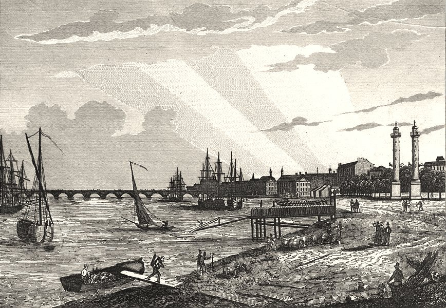Associate Product GIRONDE. Bordeaux 1835 old antique vintage print picture