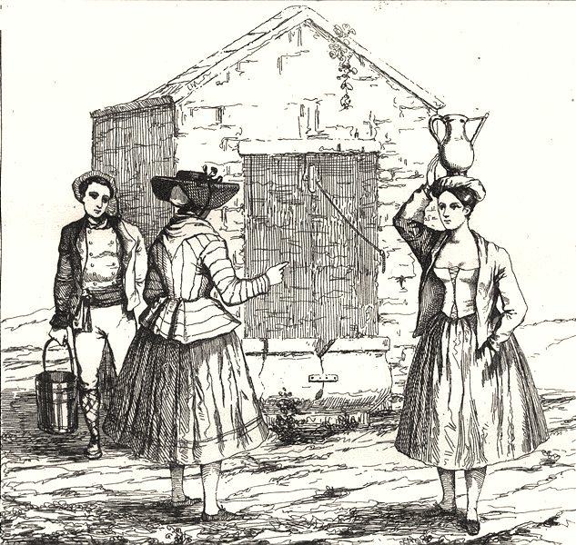 Associate Product HÉRAULT. Costumes de L'Herault 1835 old antique vintage print picture