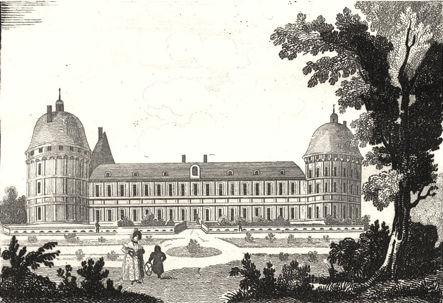 Associate Product INDRE. Valencay 1835 old antique vintage print picture