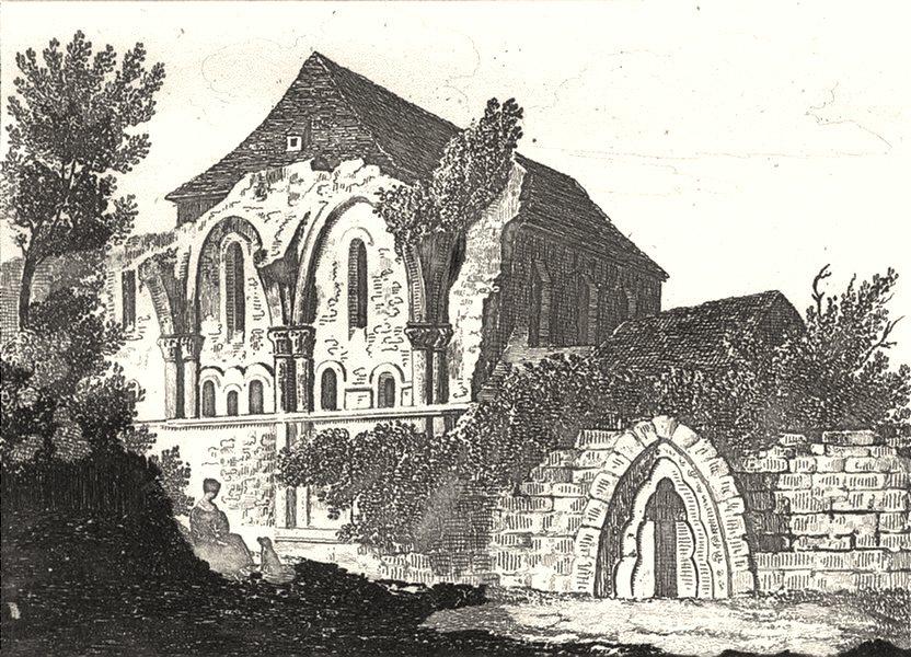 Associate Product INDRE. Ruines de l'abbaye de Deols 1835 old antique vintage print picture