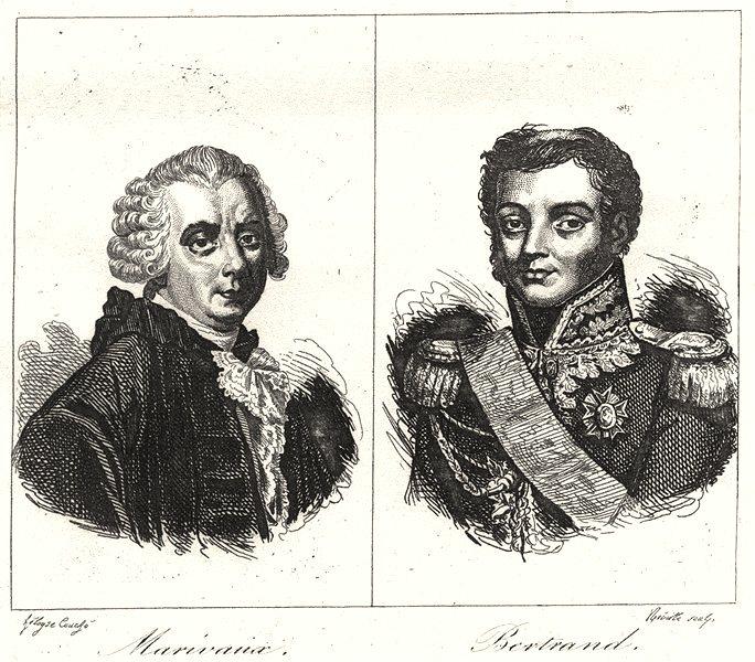 Associate Product INDRE. Marivaux; Bertrand 1835 old antique vintage print picture