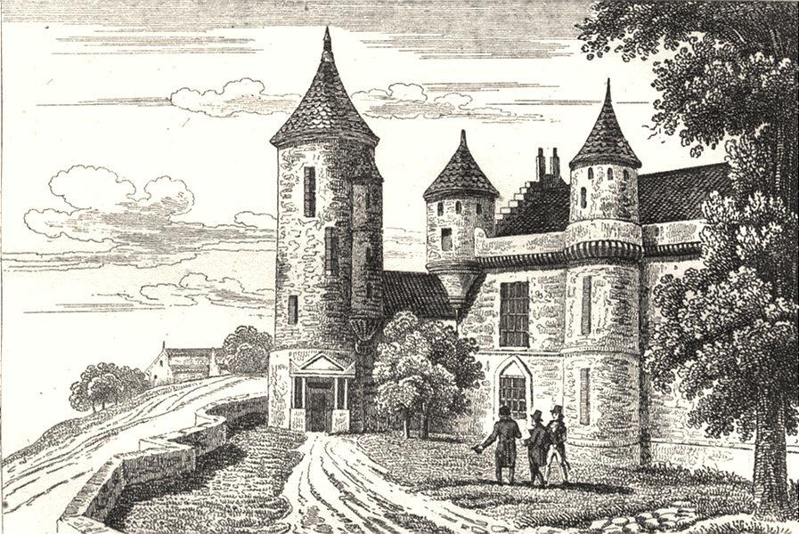 Associate Product INDRE-ET-LOIRE. Tour d'Agnes Sorel à Loches 1835 old antique print picture