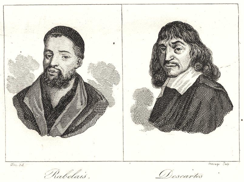 Associate Product INDRE-ET-LOIRE. Rabelais; Descartes 1835 old antique vintage print picture