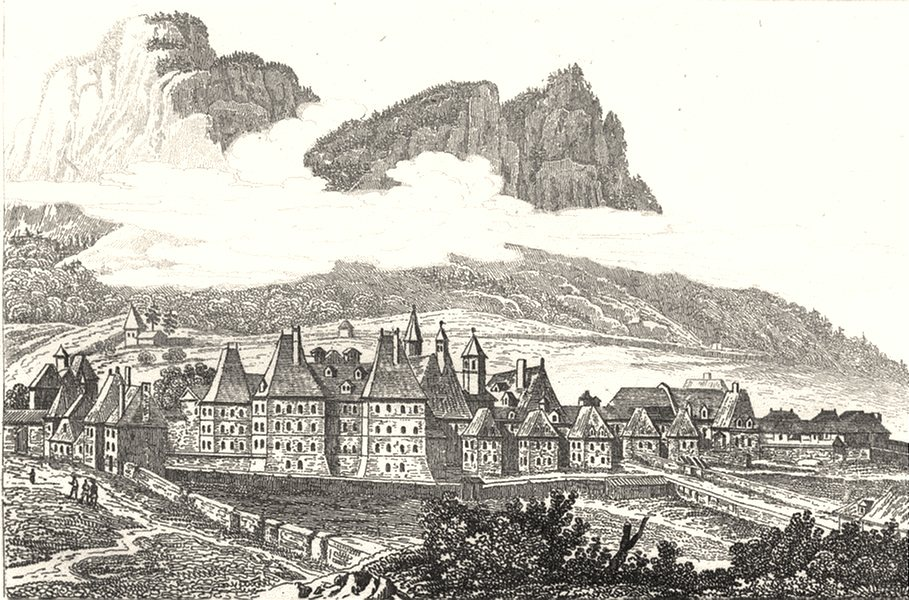 Associate Product ISÈRE. Grande Chartreuse 1835 old antique vintage print picture